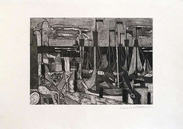 Etching: Holland, Volendam