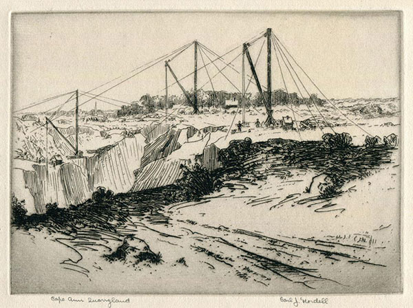 Etching: Cape Ann Quarryland