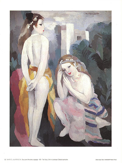 Two Young Girls in a Landscape