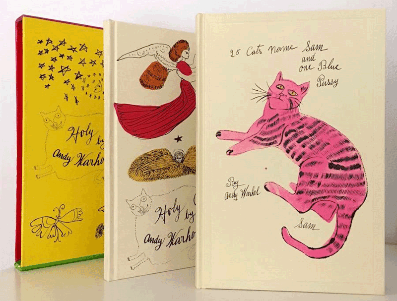 cats andy warhol blank book blank books