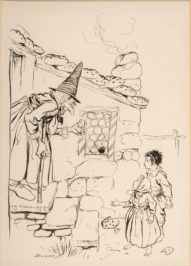 Original Pen-and-Ink Drawing by Arthur Rackham