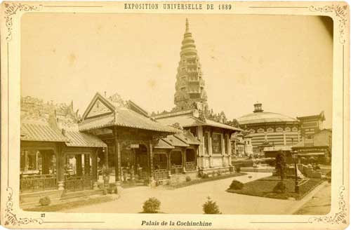 Palais de Cochinchine, Vietnam was a French colony from 1862 to 1954.