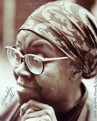 Signed Photo of Gwendolyn Brooks
