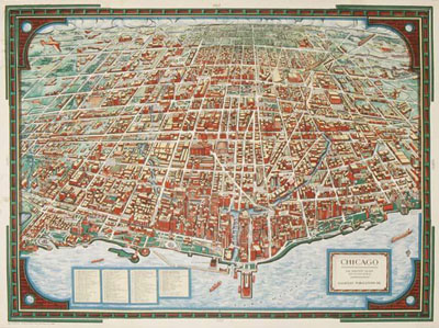 Chicago Pictorial Map