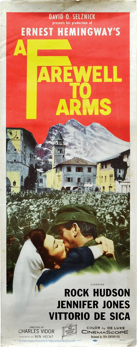 A Farewell to Arms (Original Insert Poster for the 1957 film)