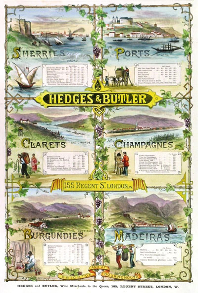 Hedges & Butler Vintage Advert