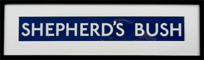 Shepherd's Bush Underground Sign
