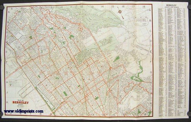 Map of Berkeley 1940