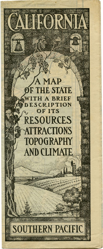 California A Map of the States with a Brief Description of Its Resources, Attractions, Topography, and Climate