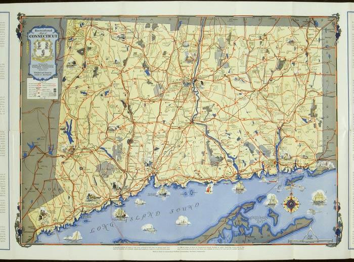 Map of Connecticut 1935