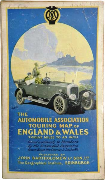 The Automobile Association Touring Map of England & Wales