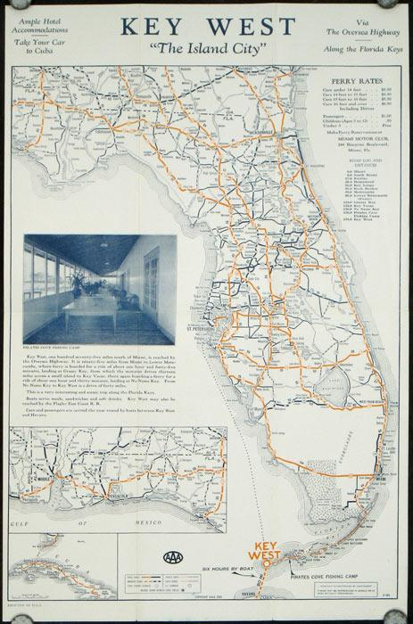 Map of Key West 1940