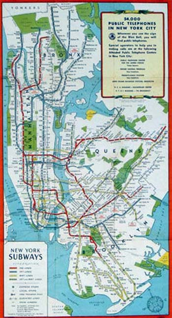 Map of Subway Systems of New York