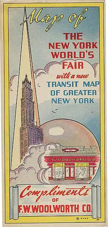 new york worlds fair with transit map