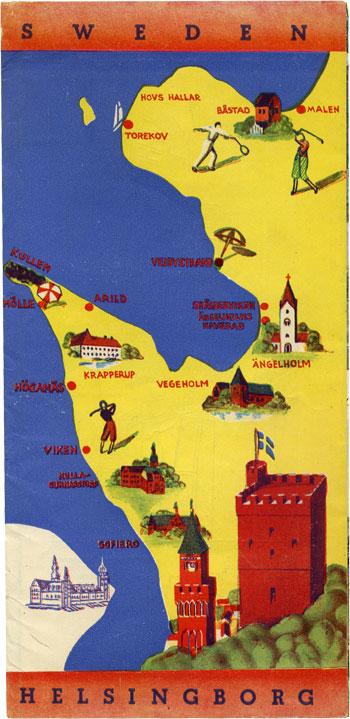Vintage Maps Pamphlets Travel Guides AbeBookscom - Sweden highway map