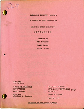 Screenplay: Airplane