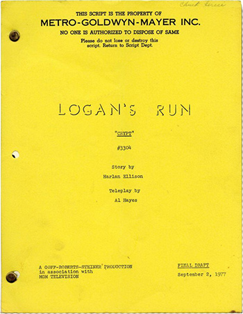 Screenplay: Logan's Run