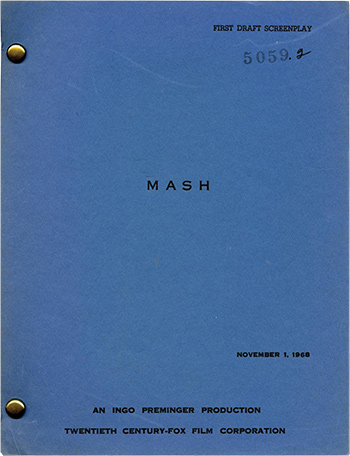 Screenplay: MASH