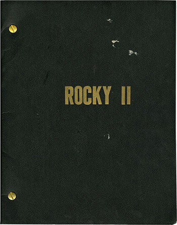 Screenplay: Rocky II