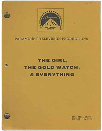 Screenplay: The Girl, The Gold Watch and Everything