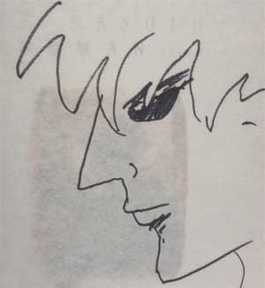 Neil Gaiman, self-portrait