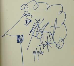 Kurt Vonnegut, self-portrait