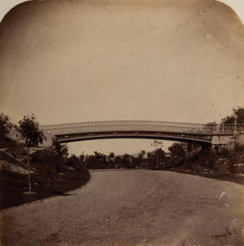 Collection of photos showing New York's Central Park in 1862.
