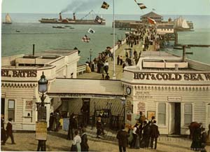 Clacton-on-Sea's pier, England