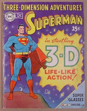 Superman-Heft mit 3D-Brille