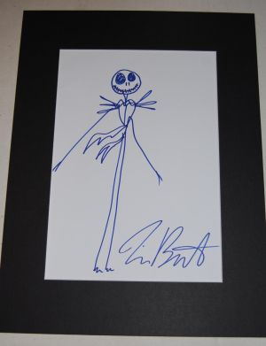 Original-Zeichnung von Tim Burton. Jack Skellington aus The Nightmare Before Christmas