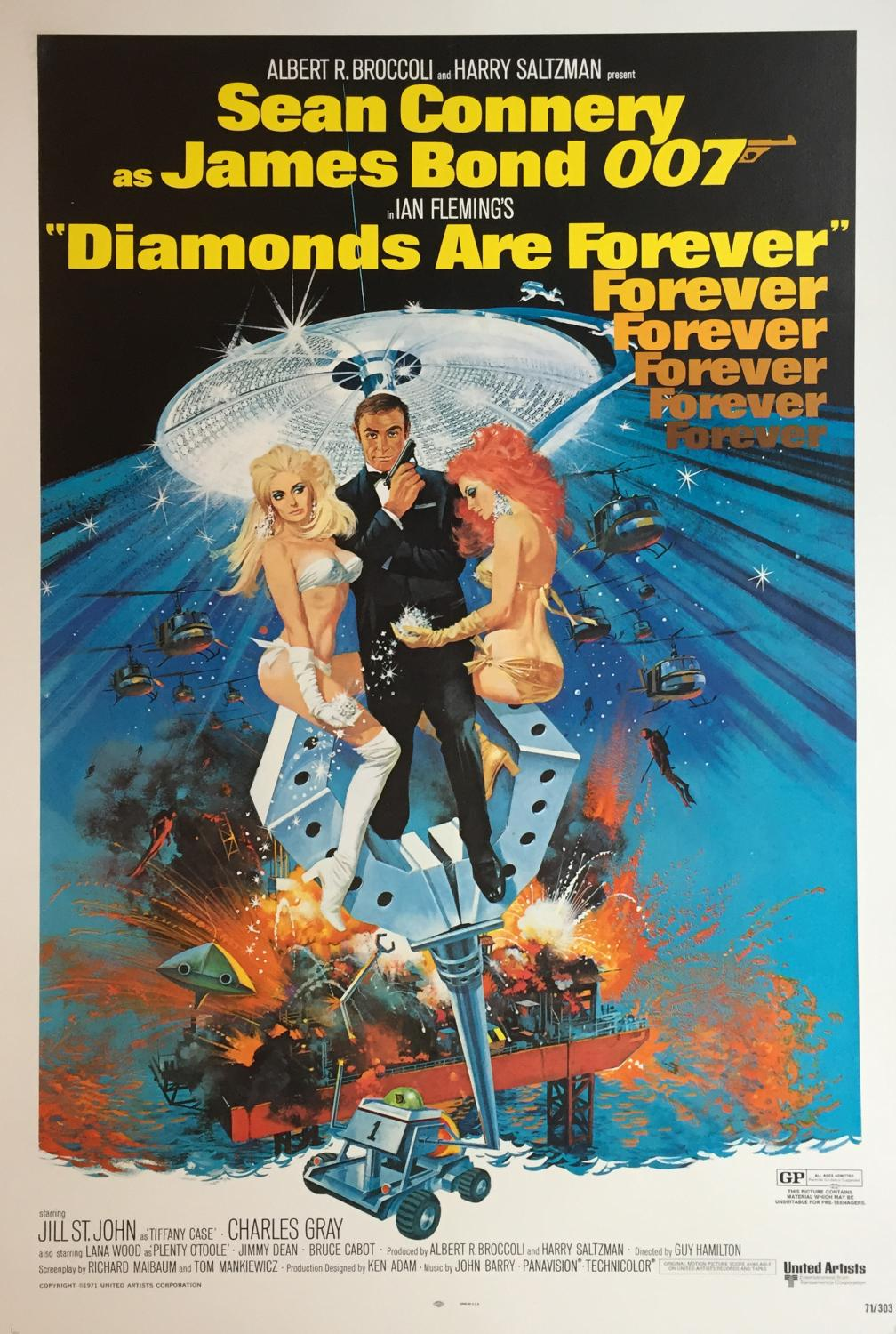 Filmposter Diamonds Are Forever