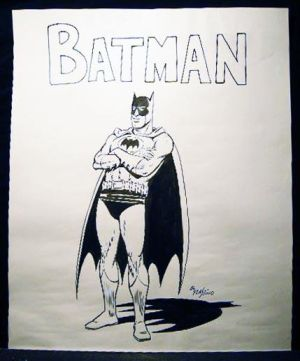 Dibujo original de Batman