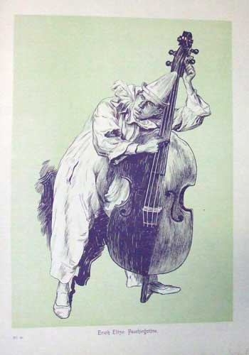 Clown mit Cello