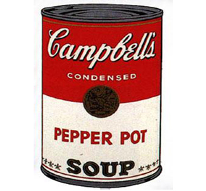 Andy Warhol : œuvres Campbell's Soup