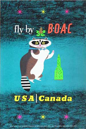BOAC (British Overseas Airways Corporation) USA Canada 1956