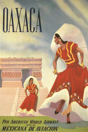 Affiches vintage : Pan Am Oaxaca env. 1950