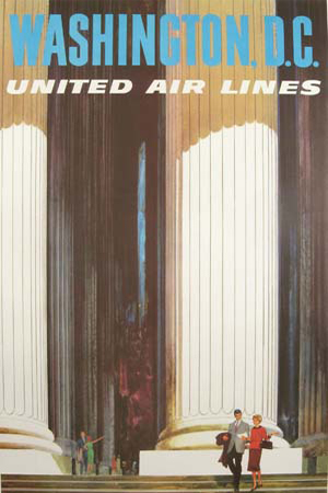 United Air Lines Washington DC env. 1960