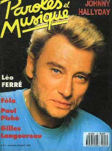 Magazine Paroles et Musique - Dossier Johnny Halliday