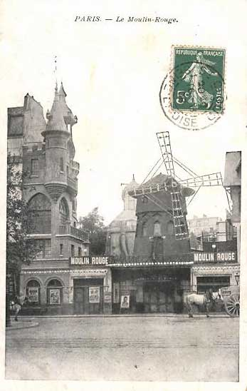 Carte postale du Moulin Rouge