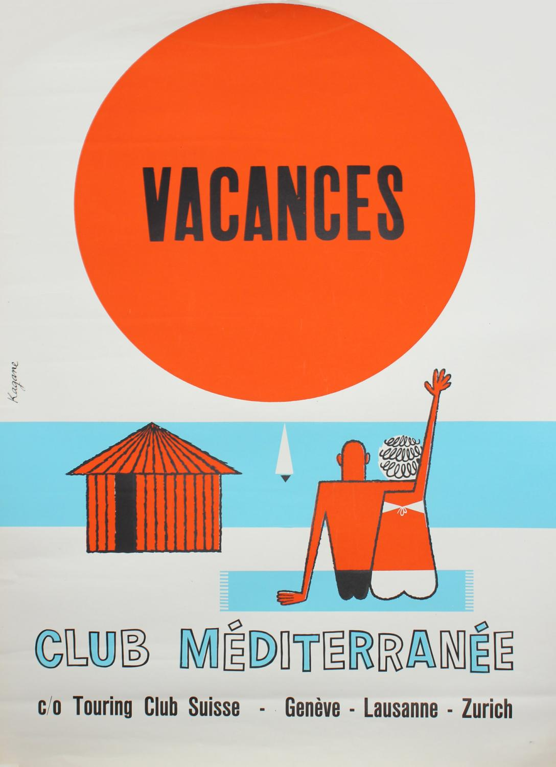 Affiche Club Med, Touring Club Suisse