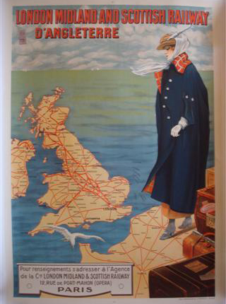 Affiche London Midland et Scottish Railway d'Angleterre