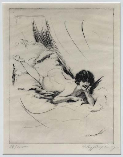 Etching: Willy Pogany Signed Etching Nude