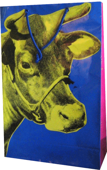 A 'Cow' paperback from MOMA's 1989 retrospective on Warhol.