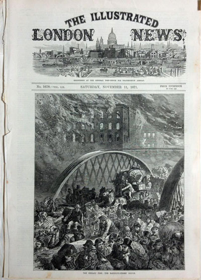 Engravings of Chicago from the Illustrated London News