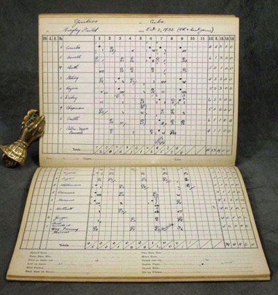 Spalding's Official Baseball Score Book