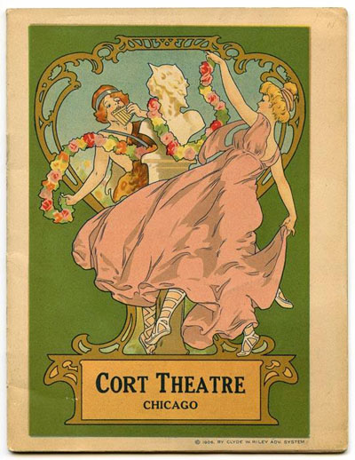Vintage Cort Theatre Program