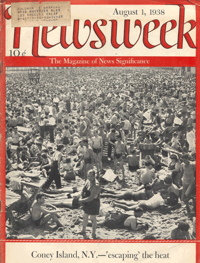 Newsweek August 1938 featuring Coney Island