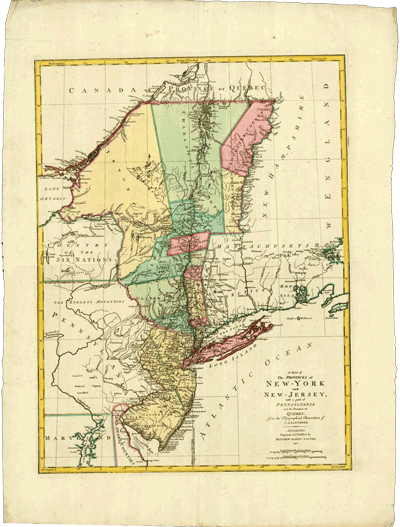 A Map of the Provinces of New York and New Jersey, 1777