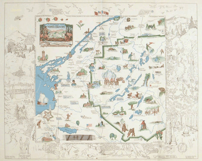 A romance map of Northern New York, 1935