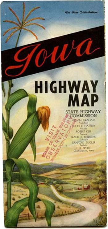 Iowa Highway Map